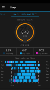 Garmin Connect Mobile: Sleep